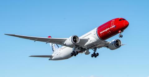 Norwegian transportó más de 2,5 millones de pasajeros en febrero, con una mejora notable de la puntualidad