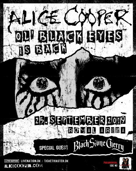 Alice Cooper til Royal Arena til september
