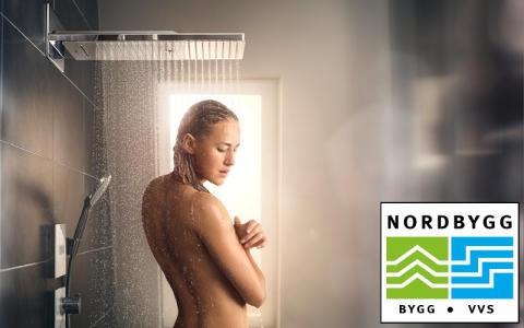 Hansgrohe presenterar duschar och armaturer på fackmässan Nordbygg