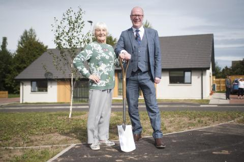 Housing Minister opens new Forres affordable housing development