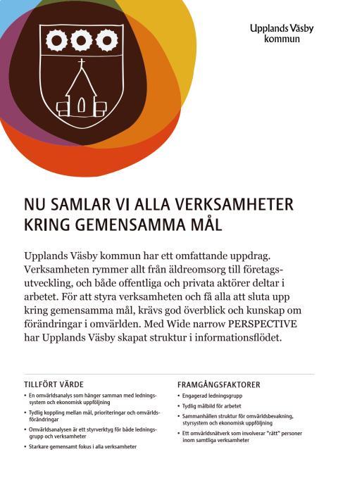 Kundcase Upplands Väsby Kommun: Nu samlar vi alla verksamheter kring gemensamma mål