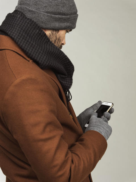 Men's knitted hat, scarf and gloves 42722-193, 42903-193, 42885-193