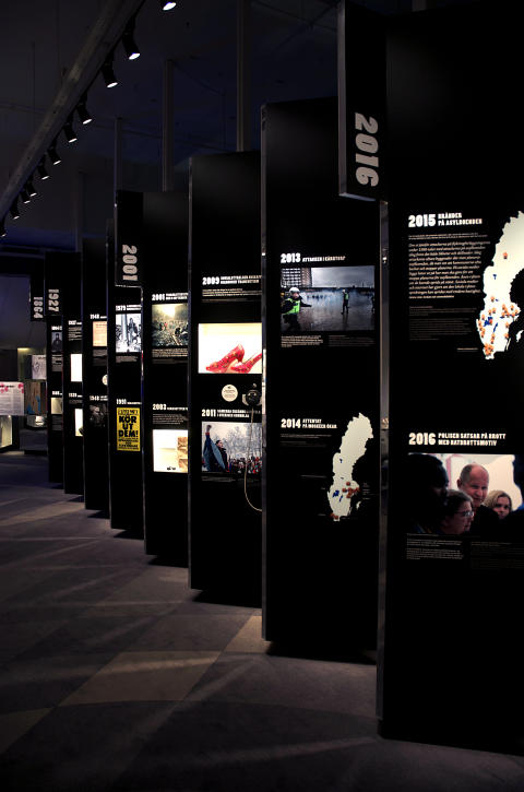 Tidslinje i VI & DOM - en utställning om hatbrott