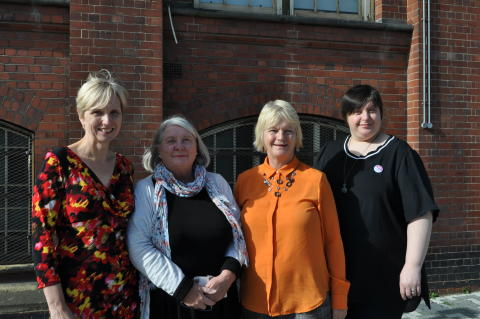 L-R: Dr Juliana Thompson, Sue Tiplady, Professor Glenda Cook and Jemma James