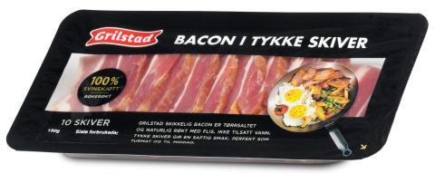 Bacon i tykke skiver