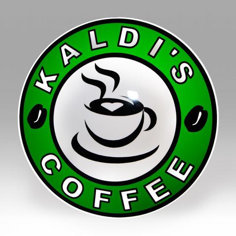 Ljusskylt Kaldis coffee