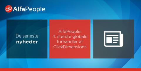 AlfaPeople er 4. største globale forhandler af ClickDimensions
