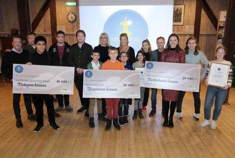 Miljö- och hållbarhetspriset Guldäpplet delades ut till tre skolor som visar vägen mot en hållbar framtid