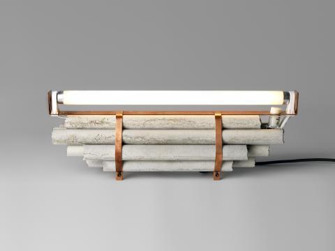Ljusfenomen av David Taylor i betong och koppar