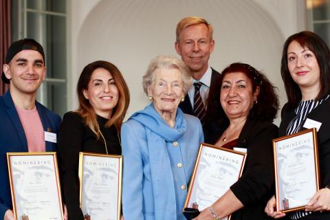De nominerade till Raoul Wallenbergpriset 2017, tillsammans med Nina Lagergren - Raoul Wallenbergs syster och grundare av Raoul Wallenberg Academy