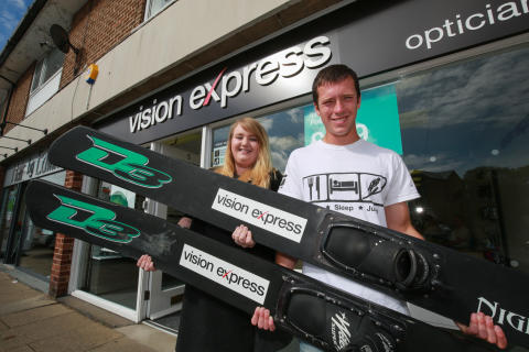 Harry sets his sights on victory with Vision Express backing