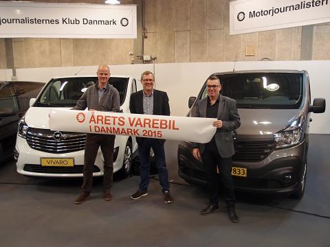 Renault Trafic vinder titlen som Årets Varebil 2015