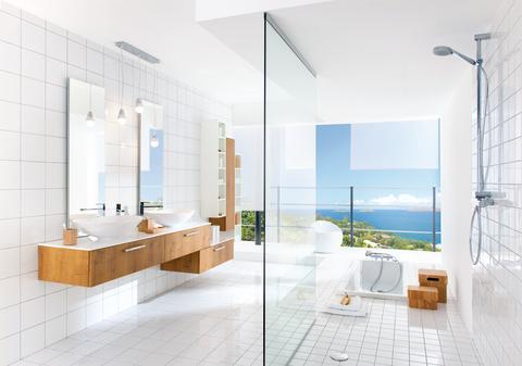 Schmidt badeværelse moderne egetræ lys