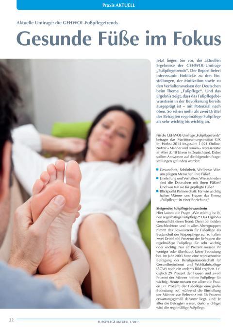 GEHWOL Fußpflegetrends 2015: Gesunde Füße im Fokus