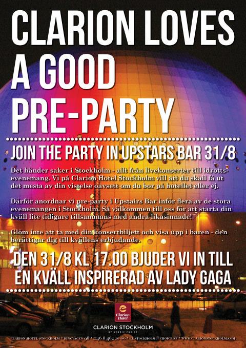 Lady Gaga på Clarion Hotel Stockholm