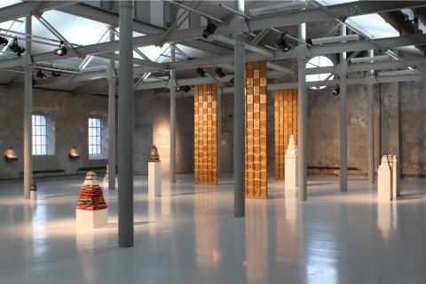 """Installationsbild """"Examensarbete i konst Petra Hultman"""""""