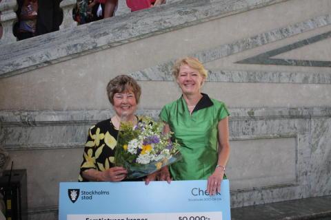 Ulla Hamilton (M): Nelson Mandelapristagaren 2013 belönad i stadshuset