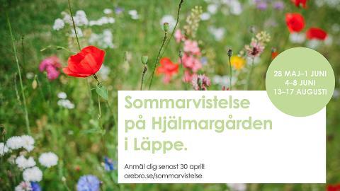 Sommarvistelse för äldre på Hjälmargården i Läppe