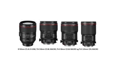 Canon utvider L-serien med fire nye fastobjektiver av høy kvalitet