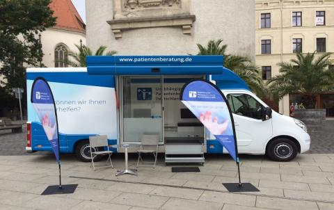 Beratungsmobil der Unabhängigen Patientenberatung kommt am 9. August nach Görlitz.