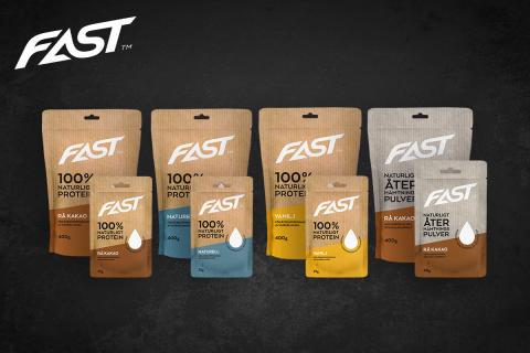 FAST lanserar 100% naturligt proteinpulver