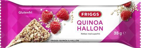 Friggs nøttebar med quinoa og bringebær