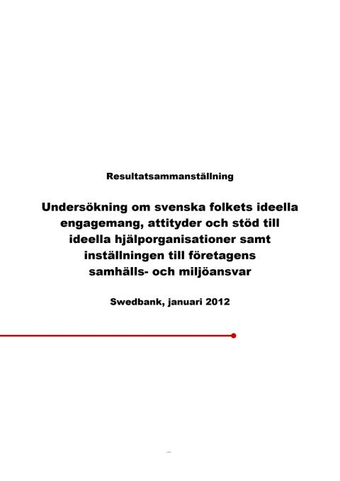 Studie från Swedbank 2012