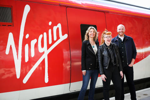 Virgin Trains brings cheer as Brits forget how to laugh