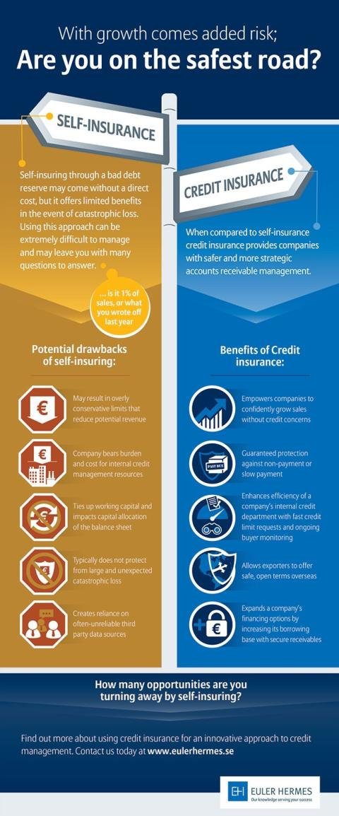 Infographic self-insurance vs credit-insurance, Sweden