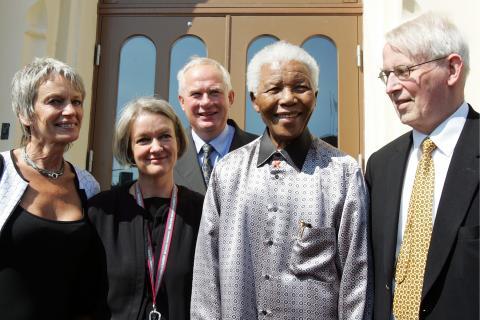 Nelson Mandela på Nobels Fredssenter