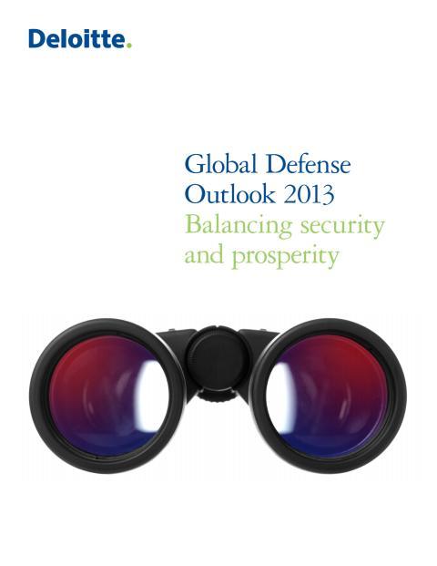 Deloitte Global Defense Outlook 2013