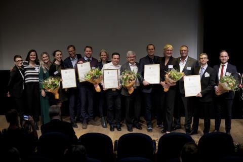 Quality Innovation Award 2017, alla vinnare på scenen.