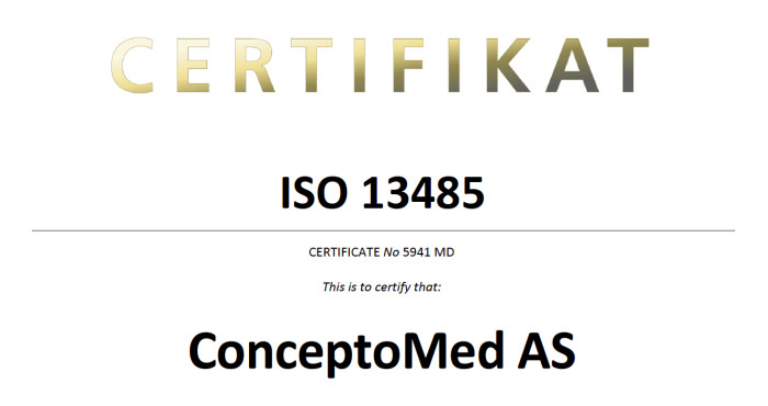 ConceptoMed obtains ISO 13485 certification - ConceptoMed