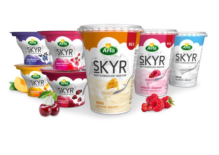 Für alle, die sich mehr vornehmen: Noch mehr Arla® Skyr Genuss im großen 450g-Becher