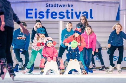 14. November 2019: Eröffnung des Stadtwerke Eisfestivals mit Eisdisco für Groß und Klein an der Hörn (c) Kiel-Marketin e. V.