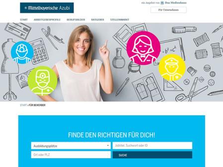 Azubi-Portal, Mittelbayerische Zeitung, Regensburg, Stellenanzeigen.de, Crosswater Job Guide, Berufsanfänger,