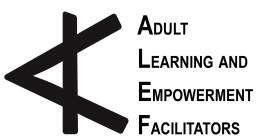 ALEF, Adult Learning and Empowerment Facilitators