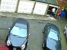 CCTV footage of burglary