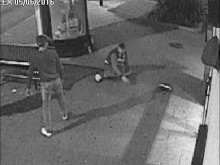 CCTV of the assault in Newham