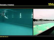 Undervattensbelysning för bassänger från Malux!