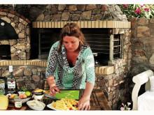 Matlagning med Fontana: Jennie Benjaminsson (Kanderad Saganaki med mojhito-marinerad fruktsallad)