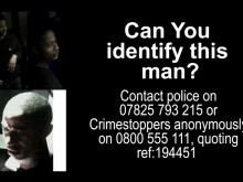 CCTV of the man police would like to trace.