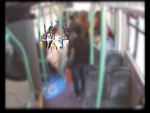 CCTV footage from the bus