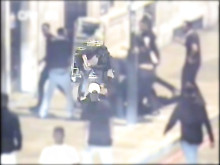CCTV footage of the disorder