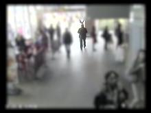 CCTV footage of Gordon Semple exiting Blackfriars station