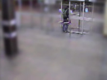 CCTV footage of a man police wish to speak with