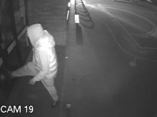 CCTV of the burglary in Plaistow