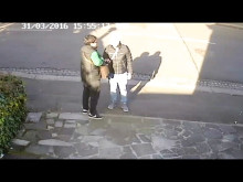 CCTV footage of three men police wish to speak with