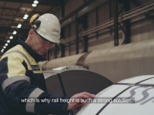 Green Cargo's efficient transports for the steel industry