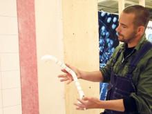 Instruktionsfilm för att bygga Säker Vattens våtrumsvägg